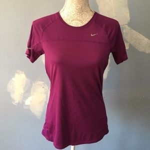 Nike // Purple Dri Fit Short Sleeve Shirt M
